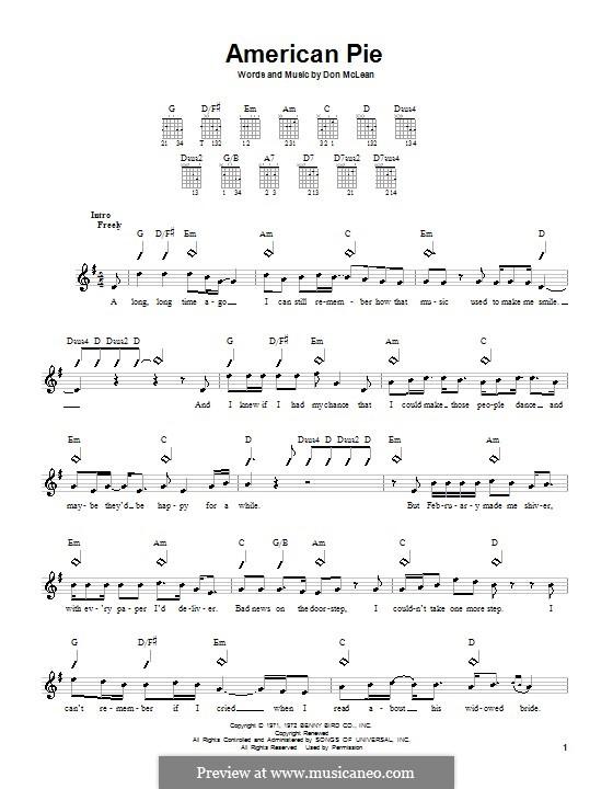 American Pie (Madonna): Für Gitarre by Don McLean