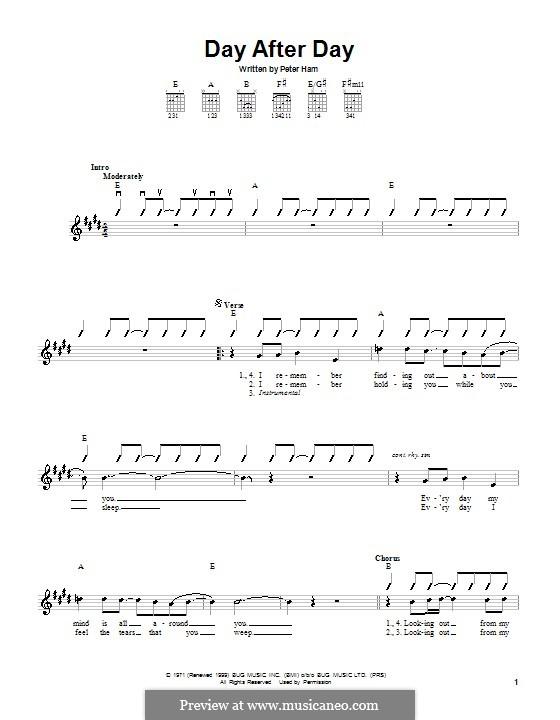 Day After Day (Badfinger): Für Gitarre by Peter Ham