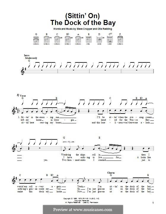 (Sittin' On) The Dock of the Bay: Für Gitarre by Otis Redding, Steve Cropper