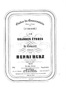 Achtzehn grosse Konzert-Etüden, Op.153: Achtzehn große Konzert-Etüden by Henri Herz