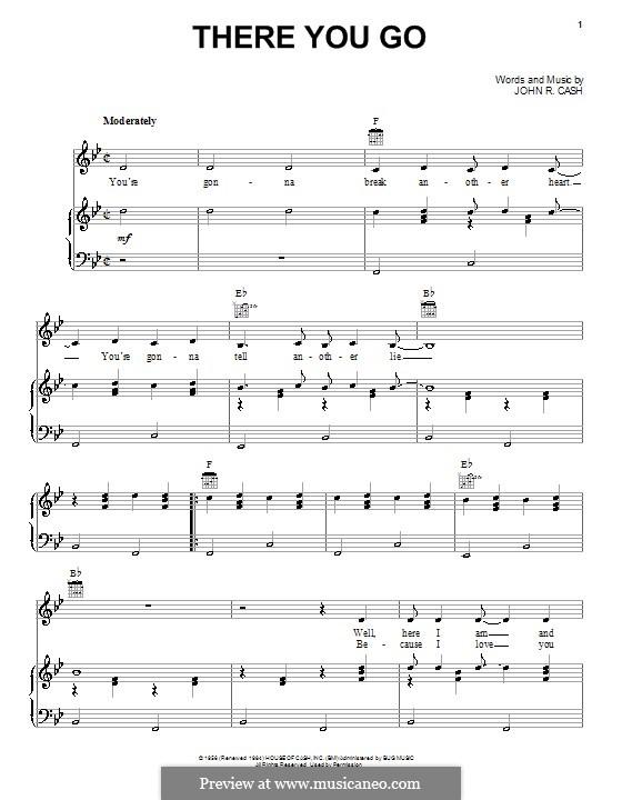 There You Go: Für Stimme und Klavier (oder Gitarre) by Johnny Cash