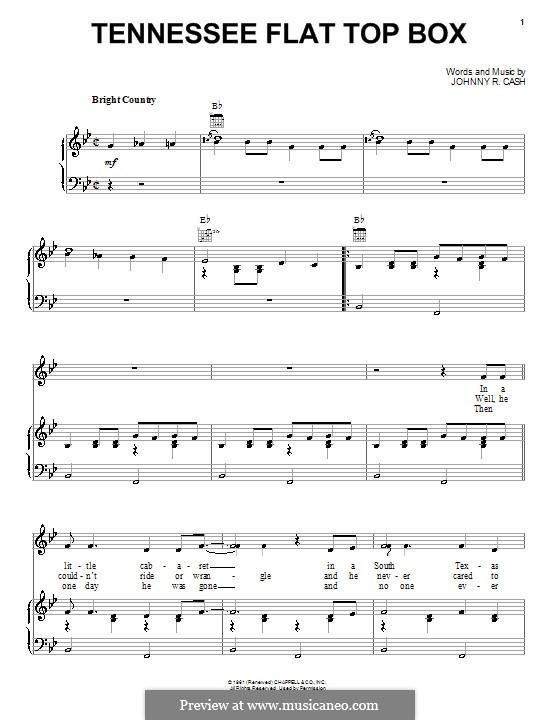 Tennessee Flat Top Box: Für Stimme und Klavier (oder Gitarre) by Johnny Cash