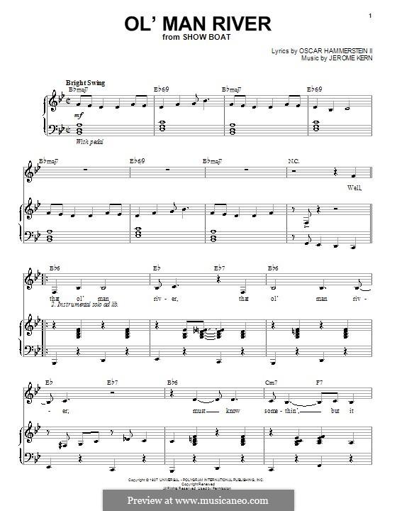 Ol' Man River (from Show Boat): Für Stimme und Klavier by Jerome Kern