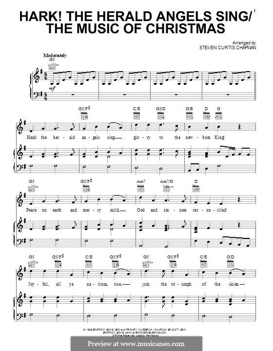 Hark! The Herald Angels Sing / The Music of Christmas: Für Stimme und Klavier (oder Gitarre) by folklore