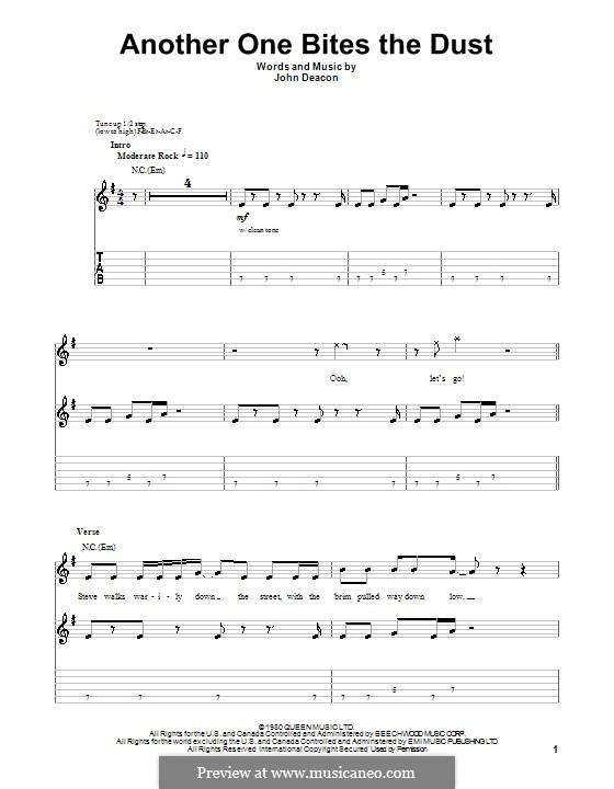 Another One Bites the Dust (Queen): Für Gitarre by John Deacon