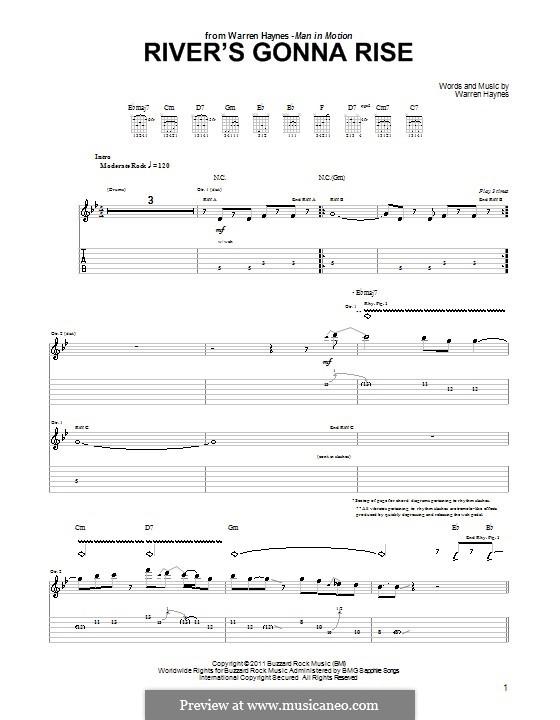 River's Gonna Rise: Für Gitarre mit Tab by Warren Haynes
