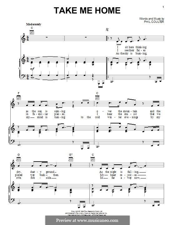 Take Me Home (Celtic Thunder): Für Stimme und Klavier (oder Gitarre) by Phil Coulter