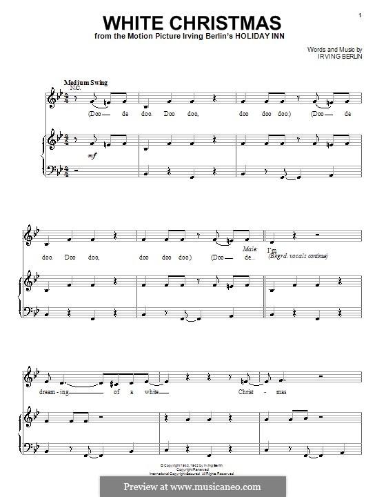 White Christmas: Für Stimme und Klavier (Michael Buble) by Irving Berlin