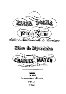 Elisa Polka, Op.187: Für Klavier by Charles Mayer