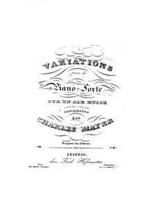 Drei Etüden, Op.40: Variationen über ein russische Arie Nr.1 by Charles Mayer