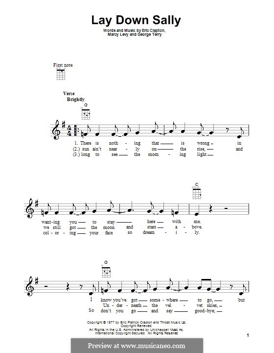 Lay Down Sally: Für Ukulele by George Terry, Marcy Levy