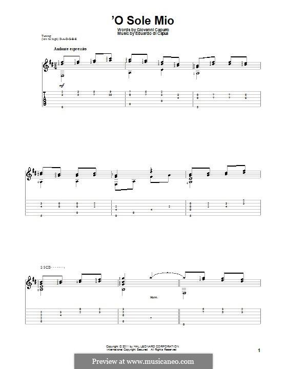 O Sole Mio: Für Gitarre by Eduardo di Capua