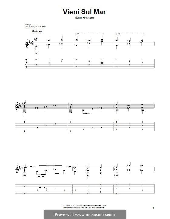 Vieni sul mar: Für Gitarre by folklore
