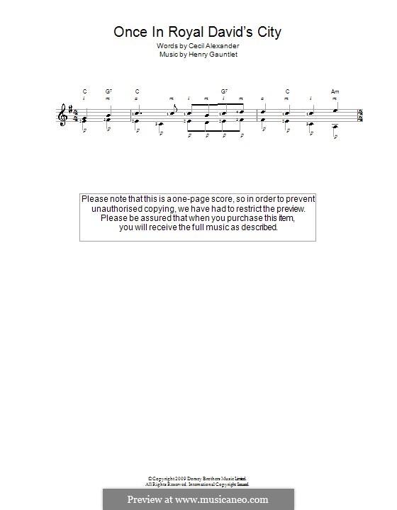 Einst in der königlichen Stadt David: Für Gitarre by Henry John Gauntlett