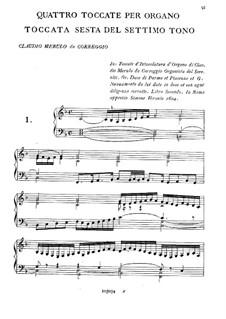 Vier Toccaten: Vier Toccaten by Claudio Merulo
