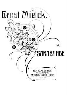 Sarabande g-Moll: Sarabande g-Moll by Ernst Mielck