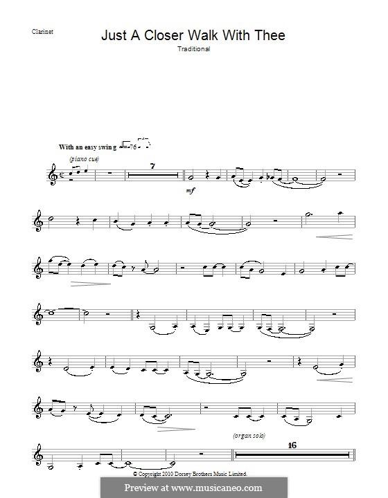 Just a Closer Walk with Thee: Für Klarinette by folklore