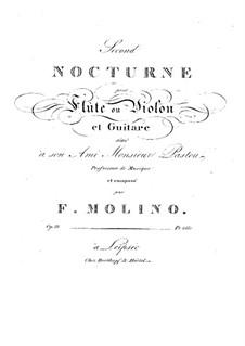 Nocturne für Flöte (oder Violine) und Gitarre Nr.2 , Op.38: Nocturne für Flöte (oder Violine) und Gitarre Nr.2  by Francesco Molino
