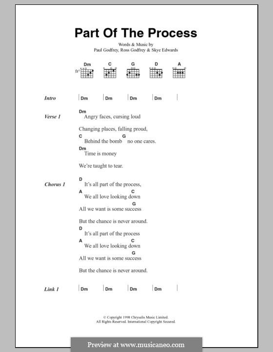 Part of the Process (Morcheeba): Text und Akkorde by Paul Godfrey, Ross Godfrey, Skye Edwards