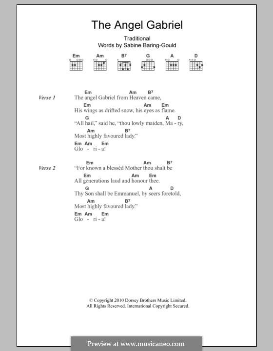 The Angel Gabriel: Text und Akkorde by folklore