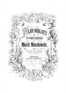 Albumblatt, Op.2: Albumblatt by Moritz Moszkowski