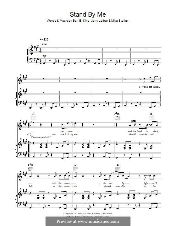 Stand By Me: Für Stimme und Klavier (oder Gitarre) by Ben E. King, Jerry Leiber, Mike Stoller