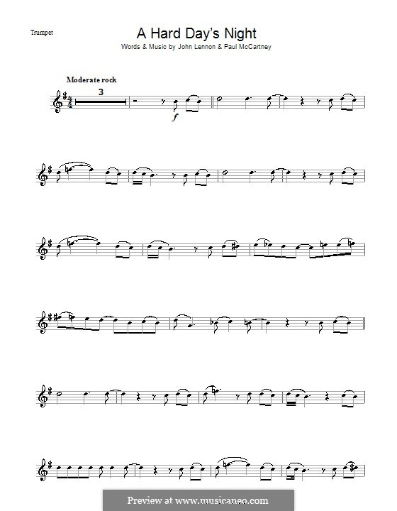 A Hard Day's Night (The Beatles): Für Trompete by John Lennon, Paul McCartney