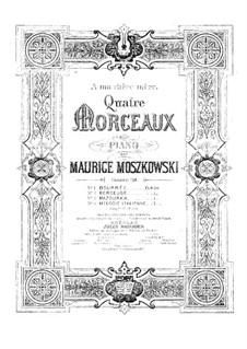 Vier Stücke für Klavier, Op.38: Vier Stücke für Klavier by Moritz Moszkowski