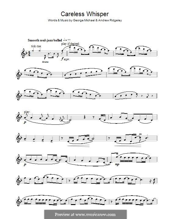 Careless Whisper: Für Flöte by Andrew Ridgeley, George Michael