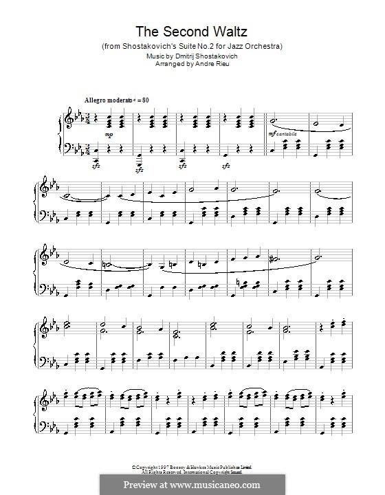 The Second Waltz: Für Klavier by Dmitri Schostakowitsch