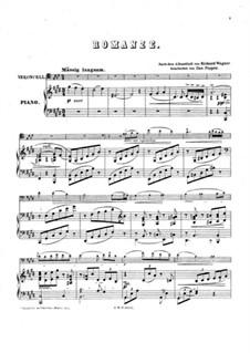 Ein Albumblatt (Romanze), WWV 94: Für Cello und Klavier by Richard Wagner