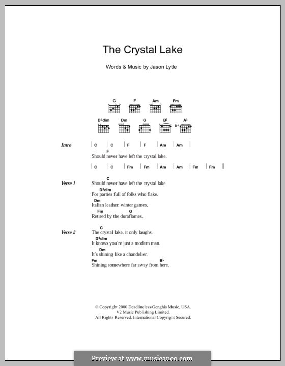 The Crystal Lake (Grandaddy): Text und Akkorde by Jason Lytle