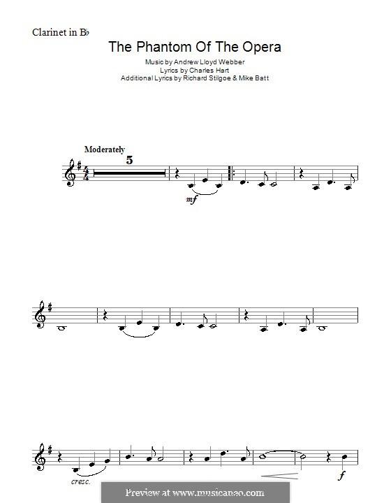 The Phantom of the Opera: Für Klarinette by Andrew Lloyd Webber