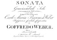 Sonate für Cembalo: Sonate für Cembalo by Gottfried Weber