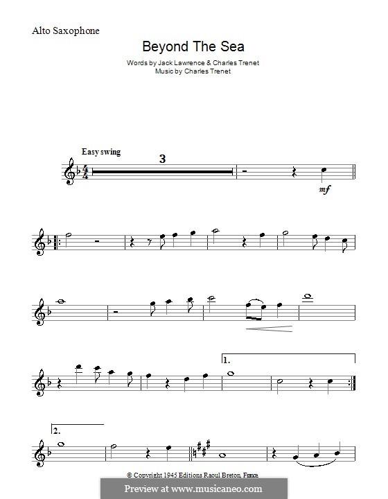 Beyond the Sea: Für Altsaxophon by Albert Lasry, Charles Trenet