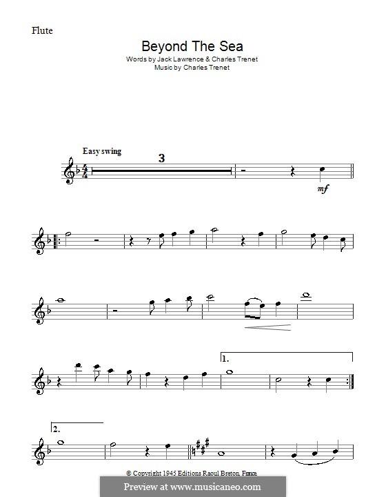 Beyond the Sea: Für Flöte by Albert Lasry, Charles Trenet