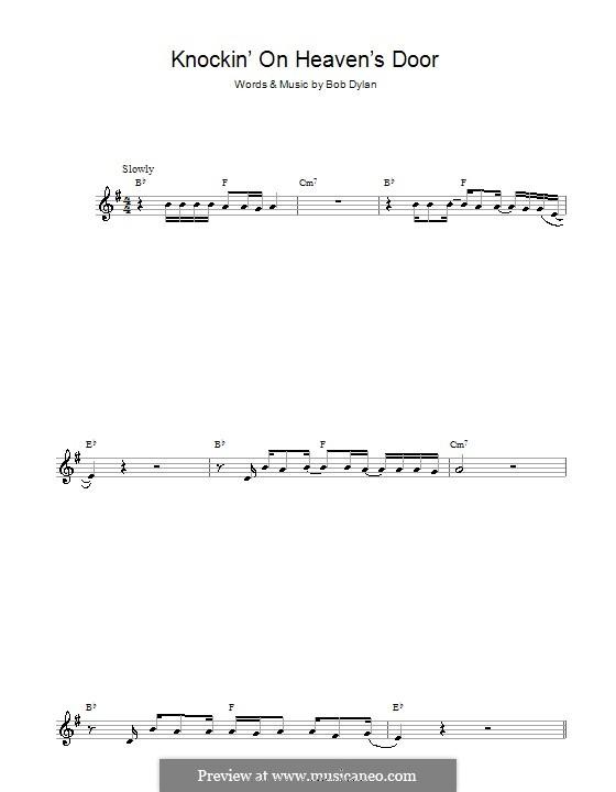 Knockin' on Heaven's Door: Für Altsaxophon by Bob Dylan
