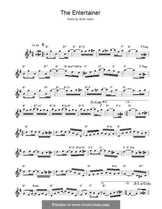 The Entertainer: Für Altsaxophon by Scott Joplin