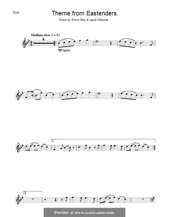 Theme from EastEnders: Für Flöte by Leslie Osborne, Simon May