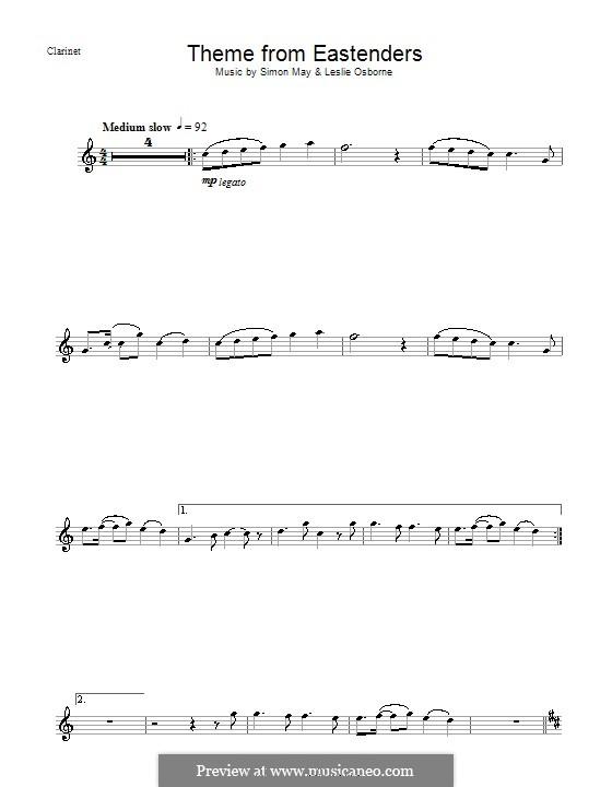 Theme from EastEnders: Für Klarinette by Leslie Osborne, Simon May