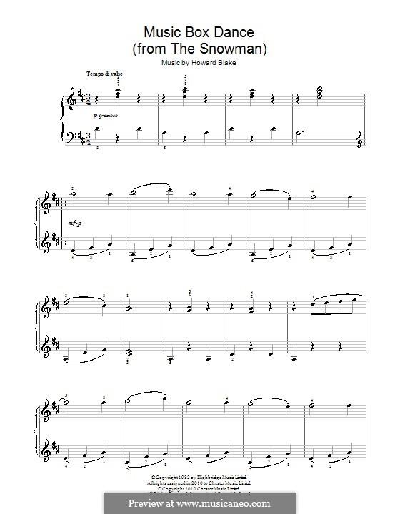 Music Box Dance: Für Klavier, leicht by Howard Blake