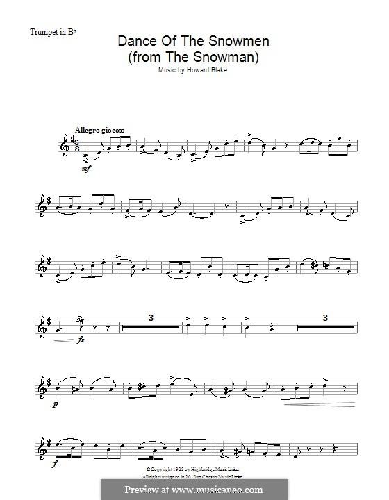 Dance of the Snowmen: Für Trompete by Howard Blake