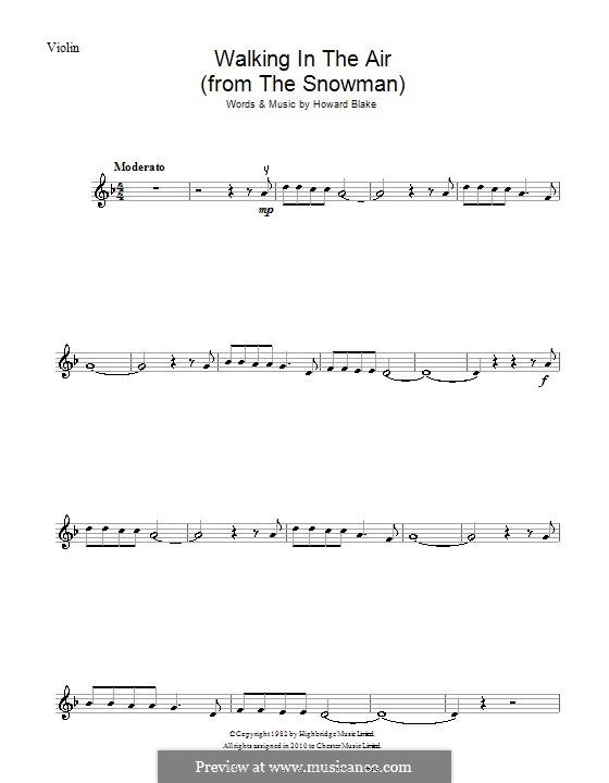 Walking in the Air: Für Violine by Howard Blake