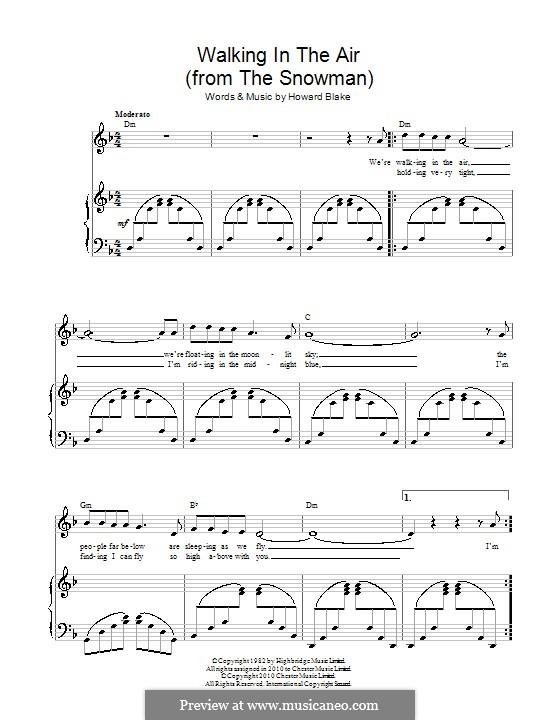 Walking in the Air: Für Stimme und Klavier by Howard Blake