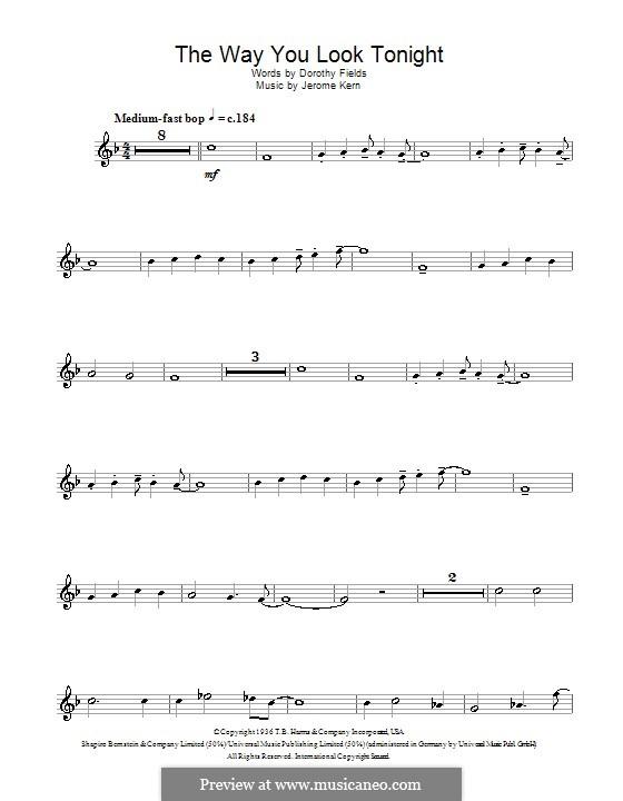 The Way You Look Tonight: Für Flöte by Jerome Kern