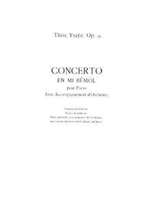 Klavierkonzert in Es-Dur, Op.9: Bearbeitung für zwei Klaviere by Théo Ysaÿe