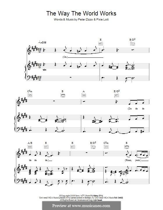 The Way the World Works: Für Stimme und Klavier (oder Gitarre) by Peter Zizzo, Pixie Lott