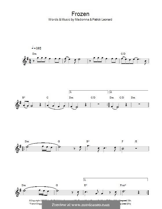 Frozen: Für Klarinette by Madonna, Patrick Leonard