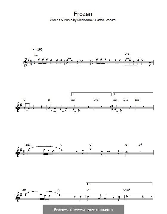 Frozen: Für Flöte by Madonna, Patrick Leonard