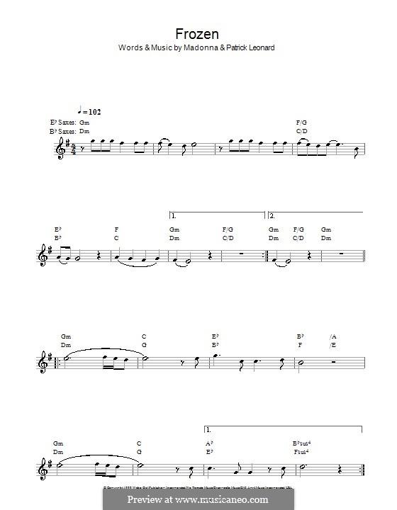 Frozen: Für Saxophon by Madonna, Patrick Leonard